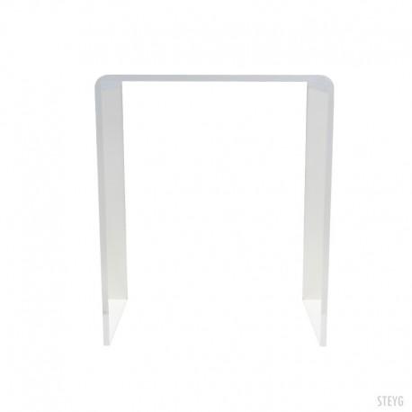 STEYG mesa auxiliar transparente