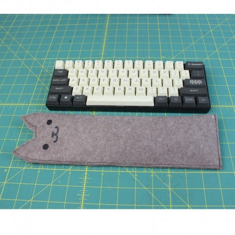 STEYG Wrist Rest Keyboard with buckwheat hulls - Black