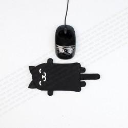 STEYG Reposamuñecas para Ratón de Ordenador | Gato Negro