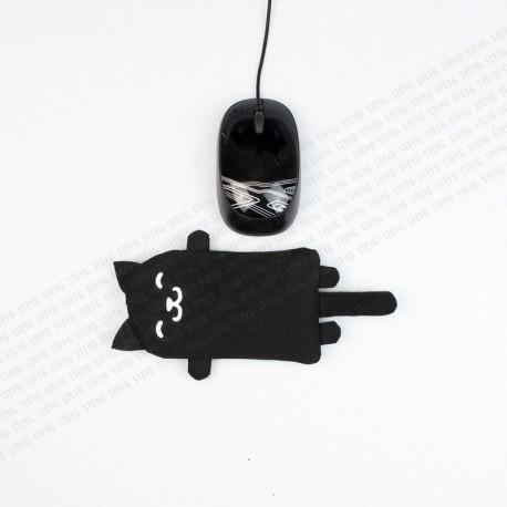 STEYG Polssteun voor Computermuis | Kat Zwart