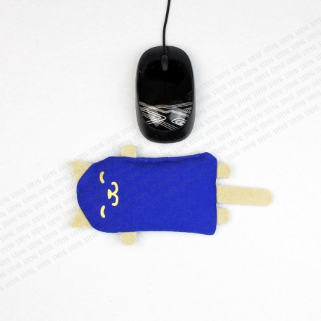 Clavier Repose-poignets STEYG pour Souris D'ordinateur   Chat Bleu