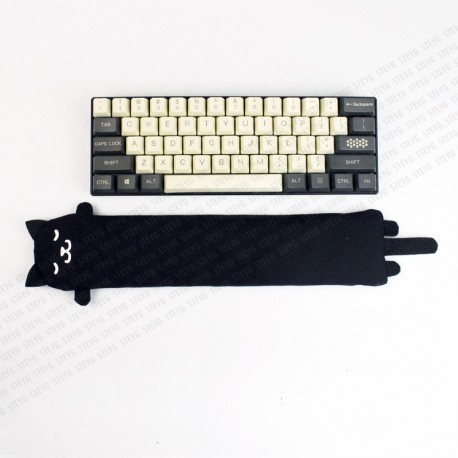 STEYG Wrist Rest für Mechanische oder Kompakte Tastatur | Katze Schwarz