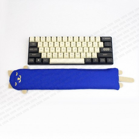 STEYG Wrist Rest for Mechanical or Compact Keyboard | Cat Blue