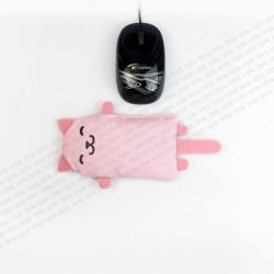 STEYG Reposamuñecas para Ratón de Ordenador | Gato Rosado