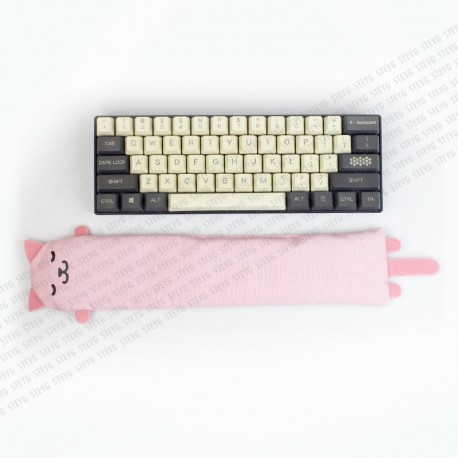 STEYG Wrist Rest for Mechanical or Compact Keyboard | Cat Pink
