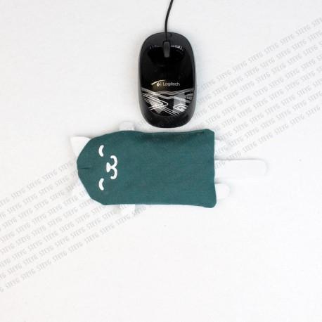 STEYG Reposamuñecas para Ratón de Ordenador   Gato Verde