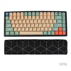 STEYG Wrist Rest Keyboard mit Buchweizenschalen - GeoBlack
