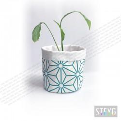 Fabric basket / flower pot STAR