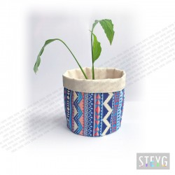 Fabric basket / flower pot AZTEC