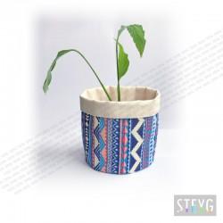 Fabric basket / flower pot AZTEC