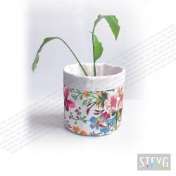 Stoffkorb / Stoff Blumentopf FLORA