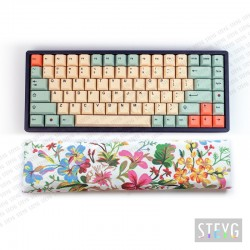 Reposamuñecas teclado mecánico / teclado compacto (cascos de trigo sarraceno) Flora