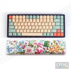 Wrist rest mechanical keyboard / compact keyboard (buckwheat hulls filling) Flora